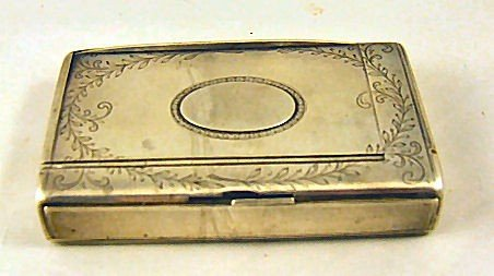 """9: Antique Russian 84 silver tinder box, dated 1884, 4"""""""