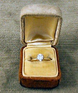 14: 1/2 karat old cut, diamond ring set in 14k yellow g