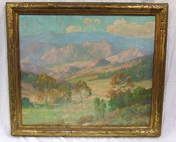 245: Oil painting on canvas by Maurice Braun, Californi