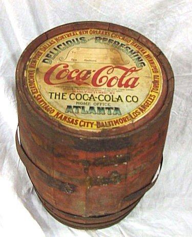 261 1920 Coca Cola 10 Gallon Syrup Barrel Full Label