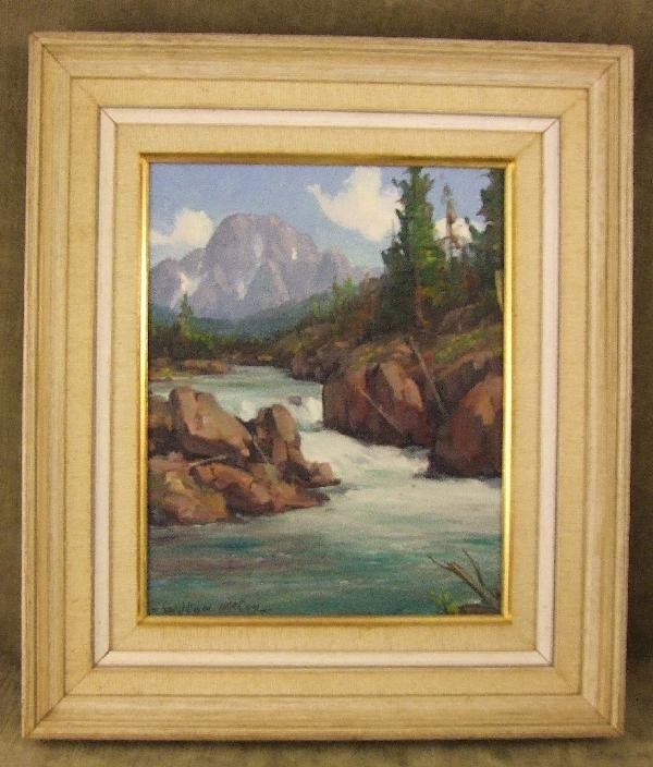 17: Wilton McCoy oil painting on canvas board, Colorado