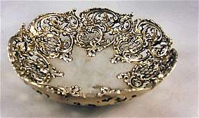 9: Ornate J.E. Caldwell & Co. sterling silver bowl with