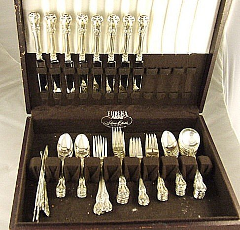 62: Towle Old Master 56 piece sterling silver flatware