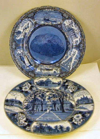 """3: Two Adams souvenir plates, 10.25"""" Plymouth Rock and"""