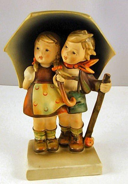"6: Hummel figurine Stormy Weather, Full Bee mark, 6.75"""