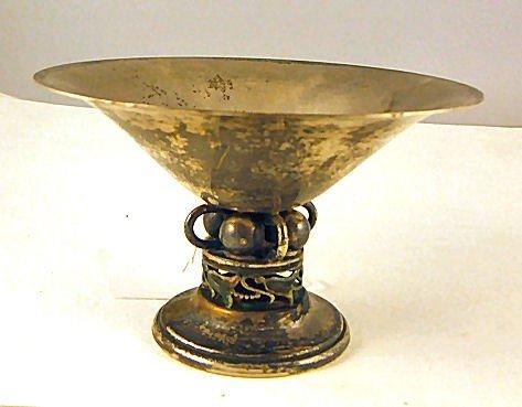 19: Boardman sterling silver compote with ornate Jensen