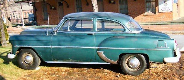 21: 1953 2 door Chevrolet Bel Aire Power Glide, 6 cyl.