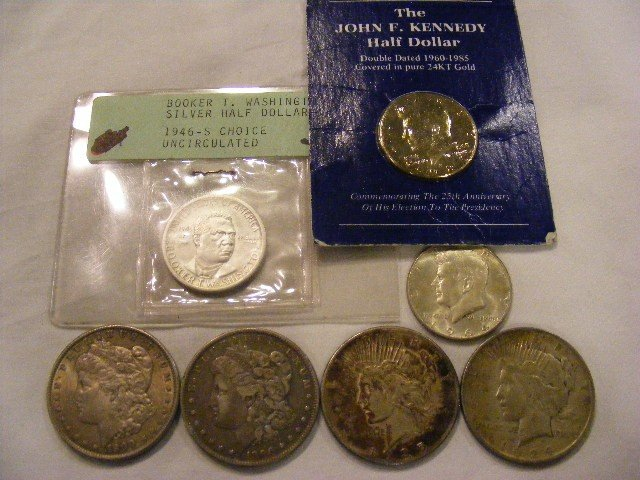 50: U.S. silver coin lot. 1896 & 1900 Morgan dollars, 1
