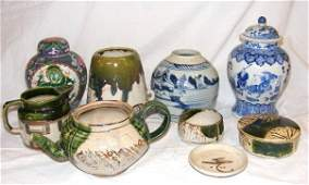 116: Lot of oriental pottery including Chinese ginger j