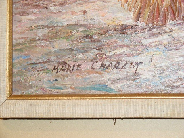 164: Marie Charlot oil painting on canvas, contemporary - 3