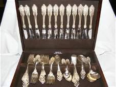 261: Wallace Grande Baroque sterling flatware set inclu