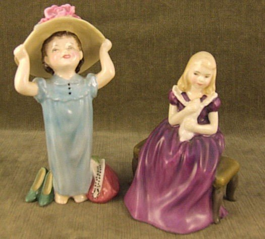 9: 2 Royal Doulton figurines, Make Believe HN 2225 and