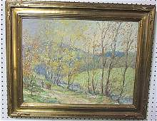 49 George A Traver oil painting on board The Mergin