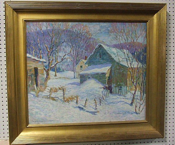 "77: H. Boyleston Dummer oil painting on canvas, 25"" X 3"