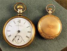 114 2 American Waltham pocket watches gold filled lar