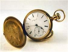 120 Tissot  Son 18K gold pocket watch 2 diam seco