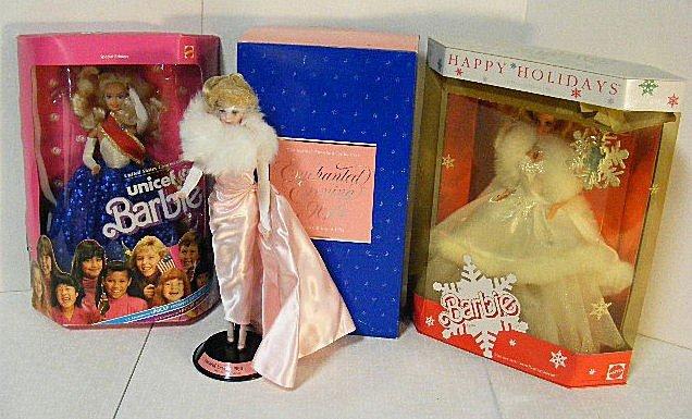 4: 3 Barbie dolls, Enchanted Evening 1960 porcelain 198