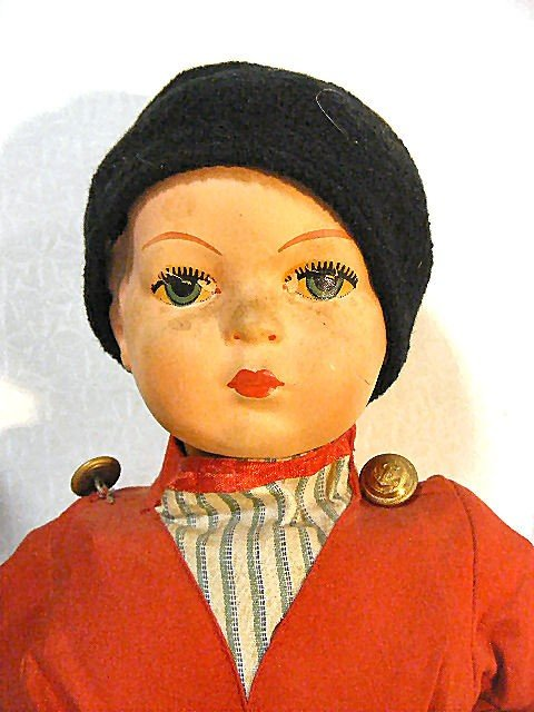 7: Vintage Dutch Boy & Girl walking dolls, wood shoes,  - 2