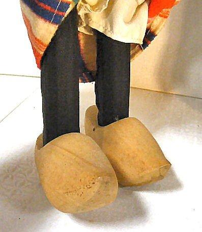 7: Vintage Dutch Boy & Girl walking dolls, wood shoes,  - 7