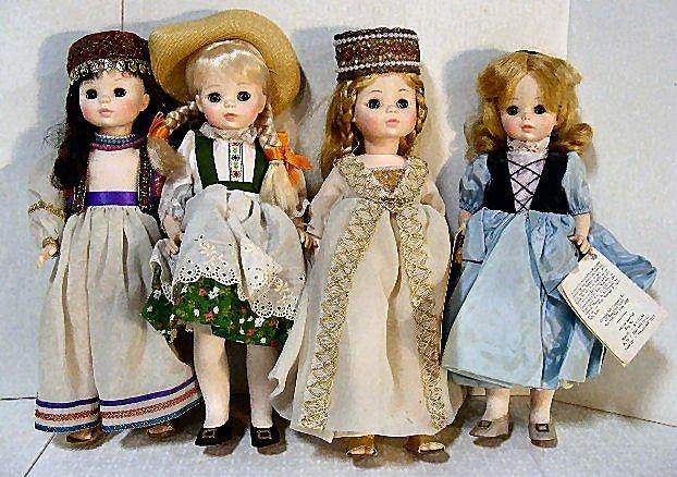 "10: Lot of 4 Madame Alexander 13"" dolls, Goldilocks, He"