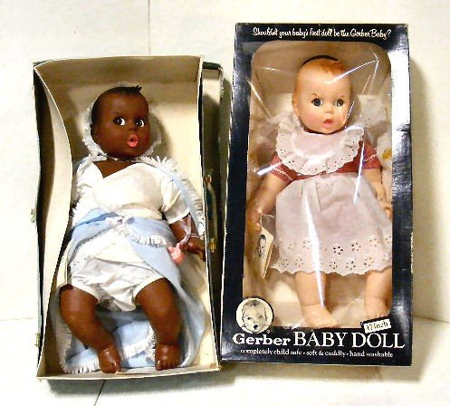 """11: 2 Gerber 17"""" baby dolls with boxes, dolls excellent"""