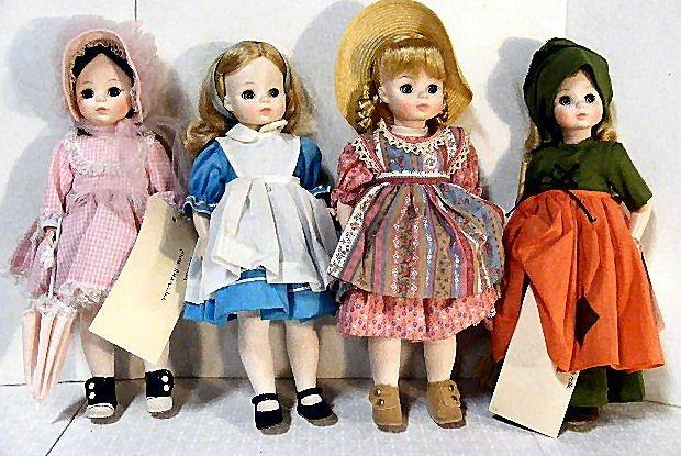 "12: Lot of 4 Madame Alexander 13"" dolls, Rebecca, Alice"