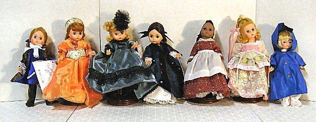 """13: Lot of 7 Madame Alexander 8"""" dolls, Storyland & Sca"""