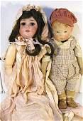 "147: Kathe Kruse boy & 24"" German bisque doll Special"