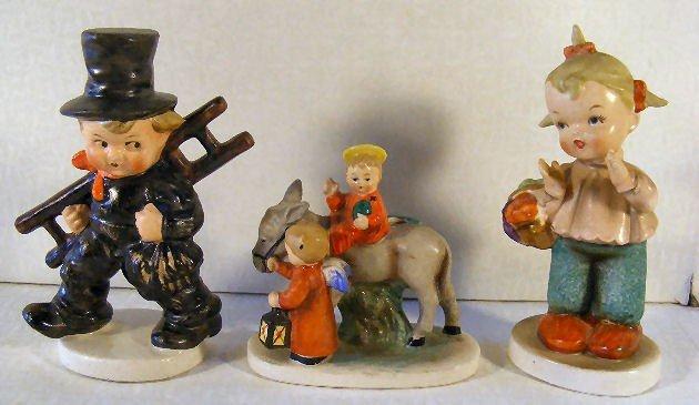 """7: 2 Crown mark Goebel figurines, Chimney Sweep 5"""", can"""