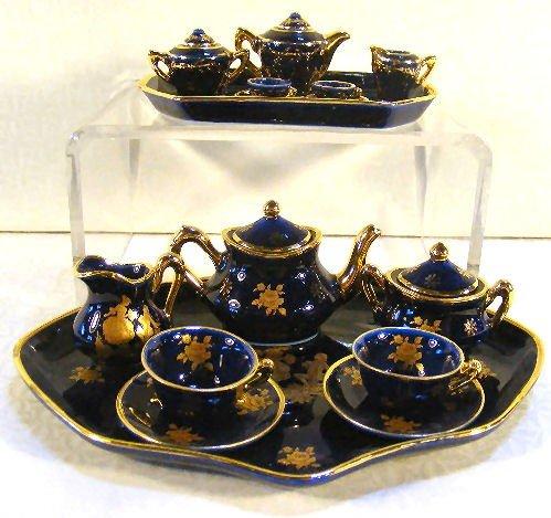 14: 2 miniature Limoges teasets, excellent condition, t