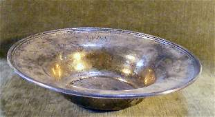 """106: Whiting sterling silver 10"""" bowl, monogrammed, 10."""