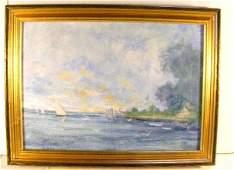 216 George B Sutherland oil painting on artist board