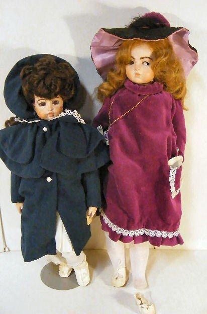 """3A: 2 Bru reproduction dolls, 19"""" Marty Westfall 1980 &"""