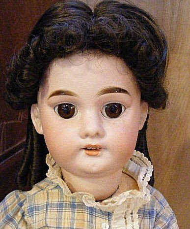 8A: A.M. bisque head doll #3600 with composition body,