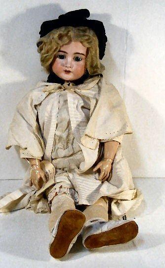 "14A: 29"" Schoenau & Hoffmeister bisque head doll with c"
