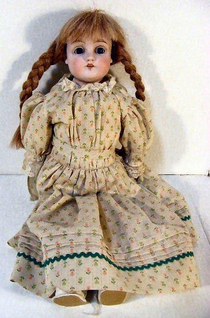 18F: Kestner bisque shoulder head doll #154, sleep eyes