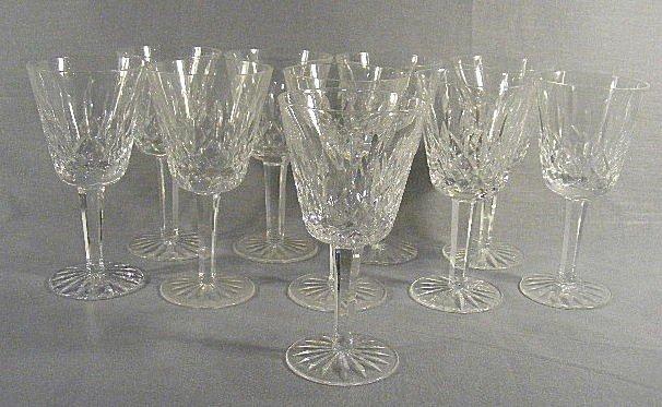 "3Q: 10 Waterford Lismore pattern wine glasses, 5.75"" hi"