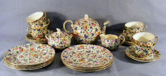 """14B: Lot of Grimwades Royal Winton """"Old Cottage Chintz"""""""