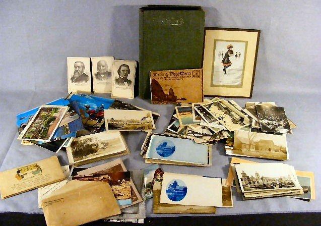 21U: Lot including postcard album, misc. 19th. & 20th.c