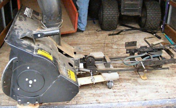 48X: Craftsman snow blower attachment, model 842.240722 - 2