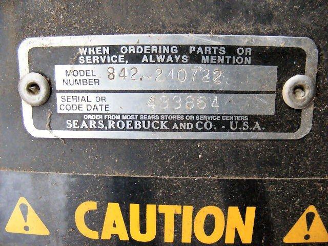 48X: Craftsman snow blower attachment, model 842.240722 - 4