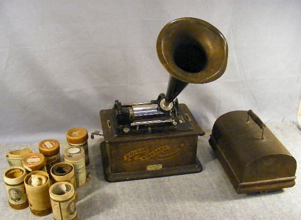 22P: Edison Standard Phonograph, crank turns but doesn'