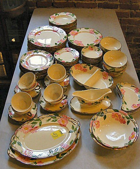 24J: 73 pc. set of Franciscan Desert Rose dinnerware, 8