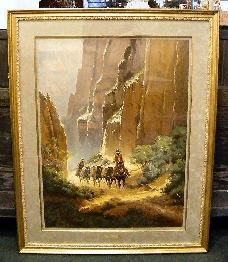 "95Q: G. Harvey lithograph ""Canyon Trails"" # 410/550, 19"
