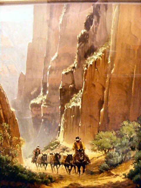 "95Q: G. Harvey lithograph ""Canyon Trails"" # 410/550, 19 - 2"