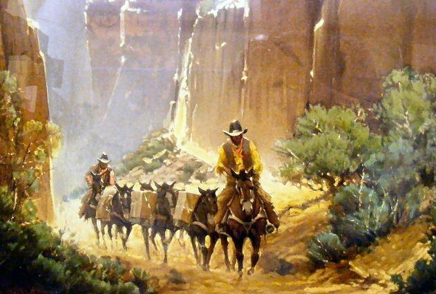 "95Q: G. Harvey lithograph ""Canyon Trails"" # 410/550, 19 - 3"