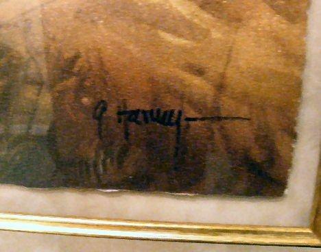 "95Q: G. Harvey lithograph ""Canyon Trails"" # 410/550, 19 - 4"