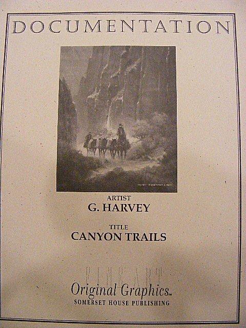 "95Q: G. Harvey lithograph ""Canyon Trails"" # 410/550, 19 - 5"