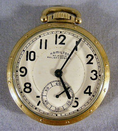 103P: Hamilton 23 jewel Railway Special pocket watch, 1