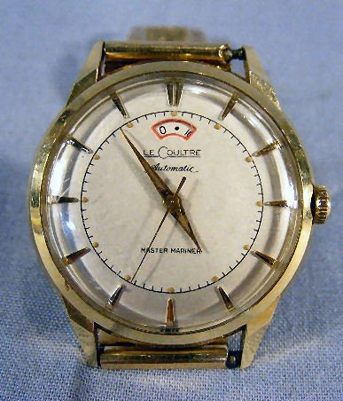 137X: 14K gold LeCoultre Master Mariner Automatic wrist